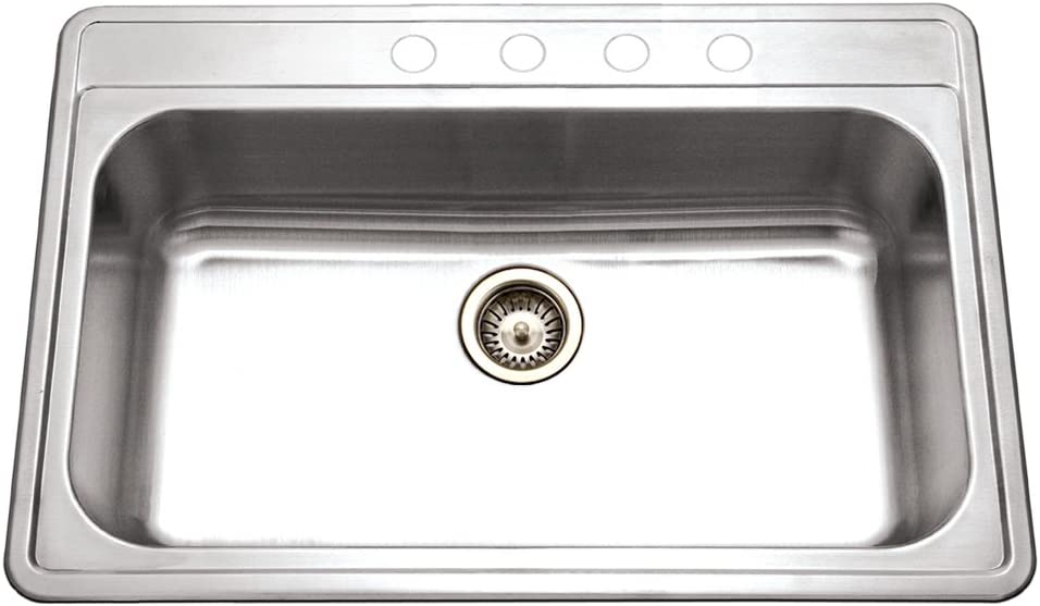 Houzer PGS-3122-4-1 Premiere Gourmet Series Stainless Max 86% OFF Topmount Colorado Springs Mall S