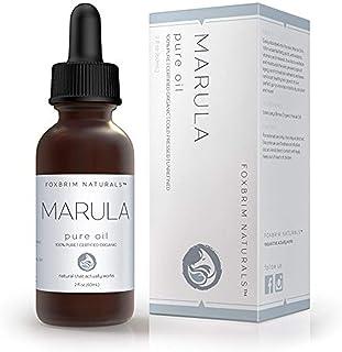 روغن مارولا ارگانیک - 100٪ خالص - 2 بطری OZ - گواهی USDA - فشرده - برای پوست ، مو و ناخن - ضد پیری ، مرطوب کننده و شفابخش - توسط Foxbrim Naturals