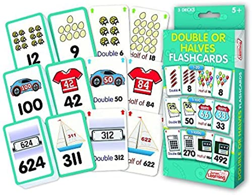 cómodo Double or Halves Flashcards Flashcards Flashcards by Junior Learning  forma única