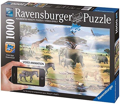 Ravensburger - 19305 - Puzzle Classique - Puzzle Réalité Augmentée Animaux d'Afrique - 1000 Pièces