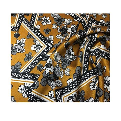 Anquanwang Prachtige zijde satijnen stof 140 cm breed maken kleding voering Kussenslopen Gordijnen Jurken