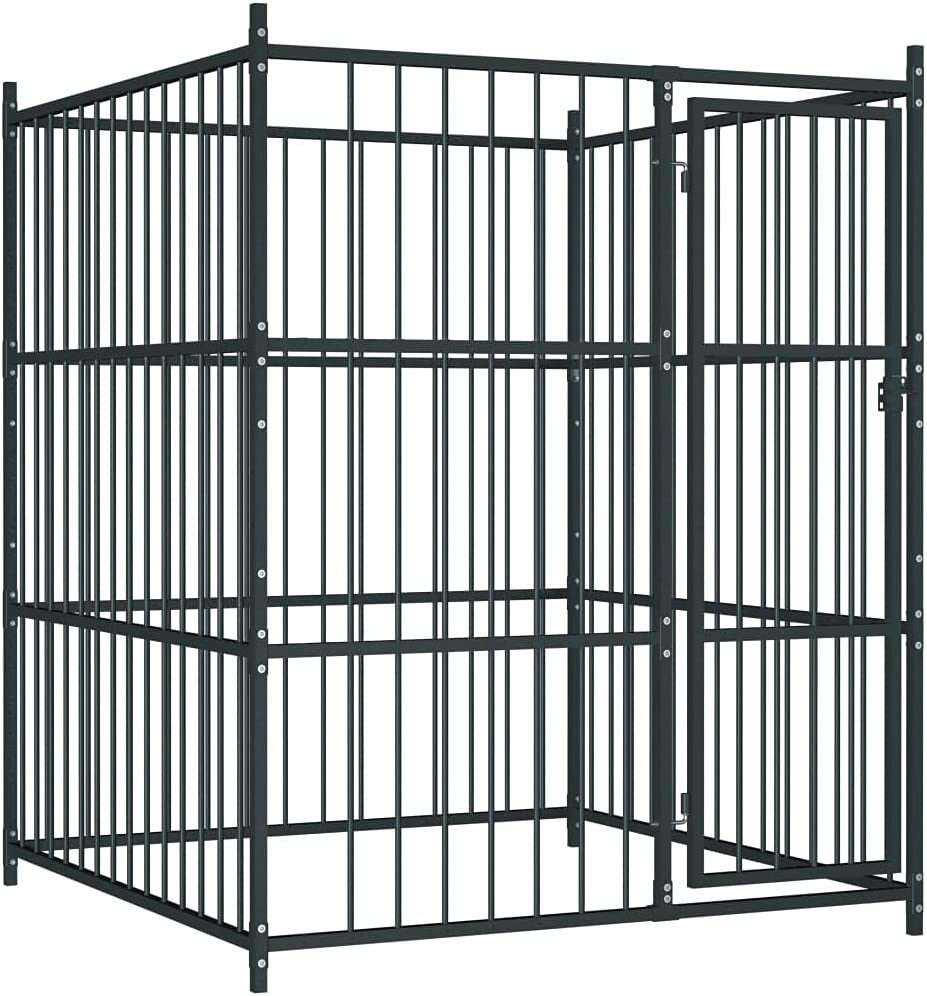hongxinq Pet Gate Heavy-Duty Steel Dog Outdoor Kennel for Product Miami Mall Fence