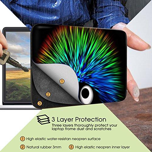 Sidorenko Laptop Tasche für 15-15,6 Zoll - Universal Notebooktasche Schutzhülle - Laptoptasche aus Neopren, PC Computer Hülle Sleeve Case Etui, Grün/Schwarz