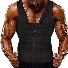Heflashor Herren Sauna Weste Shirt Shapewear Waist Trainer Neopren Sauna Schwitzanzug K/örperformer Abnehmen Bauch F/ür Slimming Training