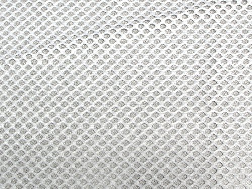 SyFabrics Sports Football Jersey mesh Fabric 58 inches Wide White