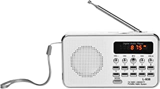 L-938 Mini FM Radio Digital Portable 3W Stereo Speaker MP3 Audio Player High Fidelity Sound Quality w/ 1.5 Inch Display Sc...