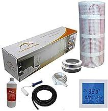 Nassboards Premium Pro - Kit de Calefacción Eléctrica Caja Amarilla Por Suelo Radiante de 150 W - 6.0m² - Termostato Blanc...