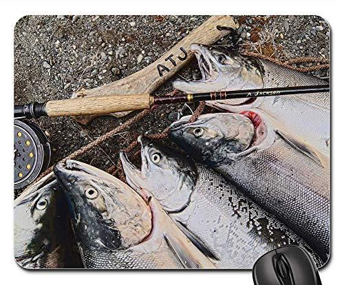 Mouse Pad - Salmon Alaska Fishing Fish Alaskan Fly Fishing