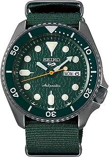 ساعة سيكو SRPD77 Seiko 5 رياضية للرجال خضراء 42.5 مم ستانلس ستيل