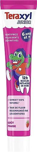 Teraxyl - Dentifrice pour Dents Définitives - 6 ans et + - Junior/Enfant - Goût Fraise - 75 ml