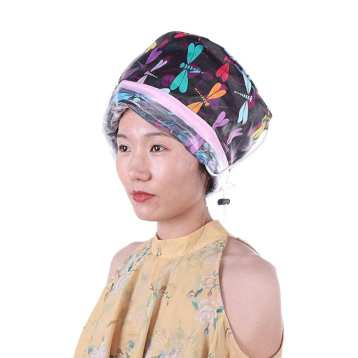 慰め微生物不利電気ヒーターキャップ、SPAヘアオイルトリートメントおよびファミリーパーソナルケア用の温度調節可能なディープコンディショニングヘアスチーマー、髪の毛先の改善および髪の損傷の修復(1)