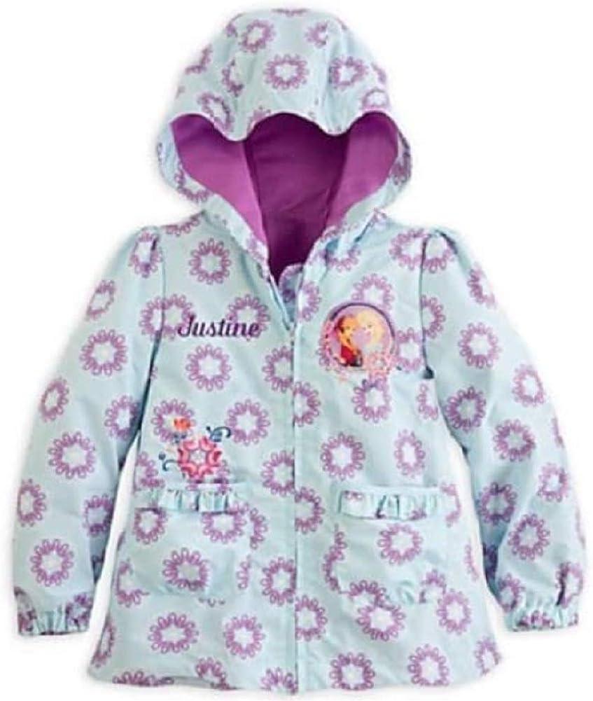 Disney Store Frozen Elsa Anna Raincoat Jacket for Girls Size 7/8