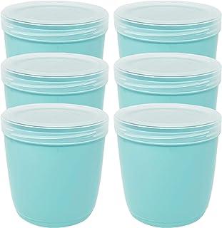 Codil Lot de 6 boîtes de rangement, récipients de cuisine, récipients réutilisables, récipients en plastique, bol, pour co...