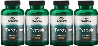 Swanson L-Tyrosine 500 mg 100 Caps 4 Pack