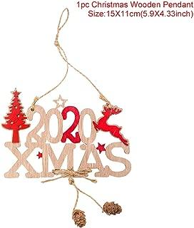 Sweet-Cupid Wooden Doorplate Pendant Christmas Decorations for Home Santa Claus Christmas Tree Ornaments Navidad Xmas Crafts,21-11