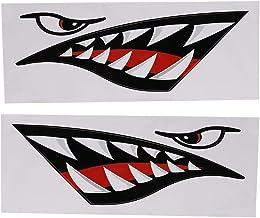 Haaientanden Sticker 2 stuks waterdichte grappige DIY Sticker auto kajak boot Truck Decal decoratie