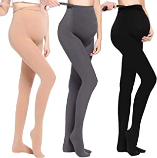 JOYNCLEON Maternity Pregnant Women Tights Adjustable Opaque Pantyhose 320DEN One Size Fits All
