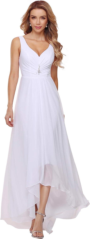 Ever-Pretty Women's High-Low Hemline Simple Chiffon Wedding Dress 9983-EH