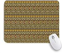 KAPANOU マウスパッド、アフリカの民族的起源を持つ幾何学模様エキゾチックな民俗の影響 おしゃれ 耐久性が良い 滑り止めゴム底 ゲーミングなど適用 マウス 用ノートブックコンピュータマウスマット