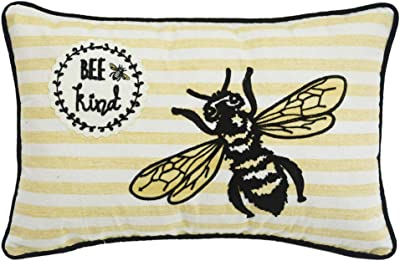 "Comfy Hour Spring Bee Kind Accent Pillow Throw Pillow Decorative Cushion, 20""x13"""