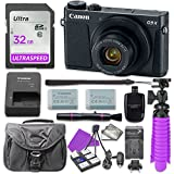 Canon PowerShot G9 X Mark II Digital Camera (Black) with 32GB SD Memory Card + Accessory Bundle