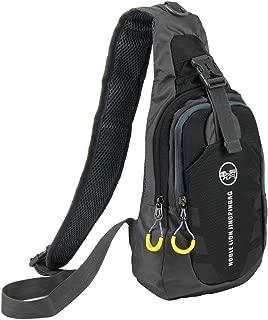 Free Bird 99 Shoulder Sling Chest Bag Running Hiking Cycling One Shoulder Travel Pack Backpack Bag for Men Women (Black)