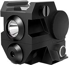 Ade Advanced Optics ALCB-2 Mini Tactical Sub Compact Rail Mount Green Laser Sight with LED Flashlight, Black