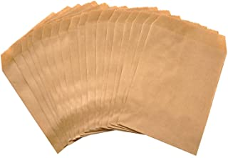 100-pack Kraft Paper treat Bags Flat favor bag for Sandwich Snacks Cookie Popcorn Party Small Gift bag (Brown, 3''x5'')
