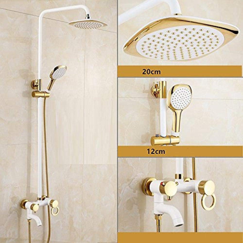 Luxus-Brausegarnitur Wasserhahn Brausegarnitur in Bad & Duscharmatur mit Gold und Wei Brausegarnitur Dusche