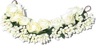 Priyaasi White Flower Juda Hair Accessories for Women/Girls