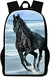 Horse Printing School Backpack for Children Adults Fashion Hiking Bags Day Packs