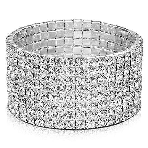 Armband roestvrij staal elastisch handgemaakte kettingarmband wikkelarmband kettingarmbanden voor moeder vriendinnen een geschenk