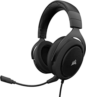 CORSAIR HS50 - Stereo Gaming Headset - Discord Certified Headphones - Works with PC, Mac, Xbox One, PS4, Nintendo Switch, ...