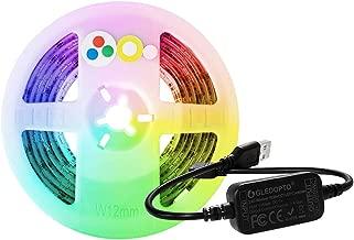 ZigBee RGBCCT Controller + LED Strip Light Kit, USB 5V 6.6Ft Waterproof LED TV Backlight, RGB Color Changing and Dual White ZigBee Light Link App Smart Bias Lighting, Philips Hue, Amazon Echo Plus