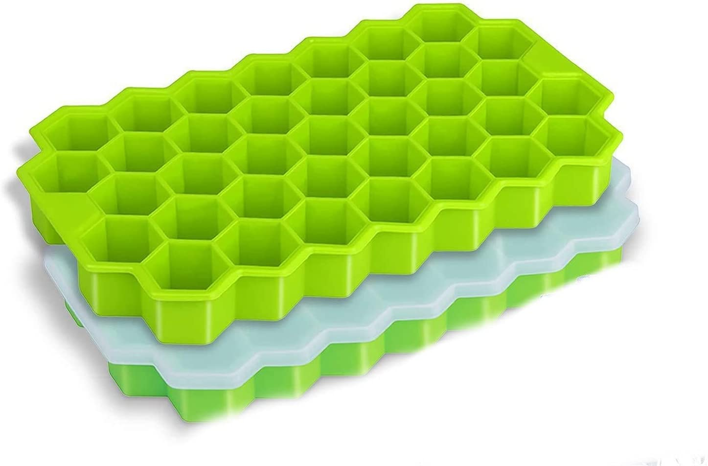 Japan Maker New 37 Grids Ice Cube Tray Honeycomb Tampa Mall with Removalbe Molds L