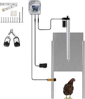 TWSOUL Kits automáticos de apertura de puerta de gallinero CON / Sensor de tiempo Puerta de gallinero de inducción con sensor infrarrojo