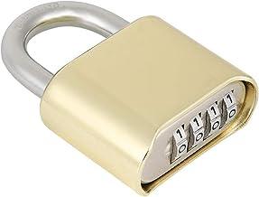 Prachtig slot Waterdichte zinklegering 4 cijfers wachtwoord keyless korte slotbundel bodem ontgrendelen hangslot Verstevig...