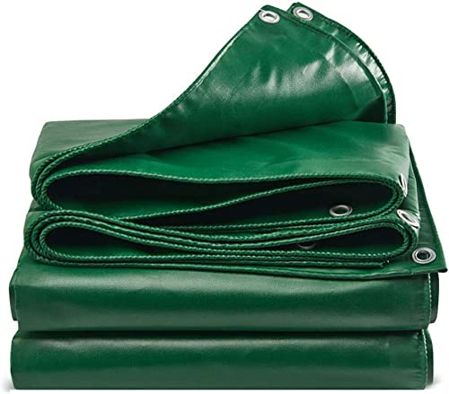QLLYB Bache épaisse Verte imperméable à l'eau Bloc de Prougeection Solaire Isolation extérieure Canopy Toile bache Tissu d'ombre, Une variété de Tailles (Taille   10M6M)