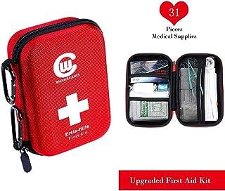 Dilicwa Botiquín de Primeros Auxilios 31 Artículos, Mini Kit de Supervivencia - Bolsa Médica de Emergencia Al Aire Libre para Coche El Hogar Lugar de Trabajo Acampar Senderismo Viaje