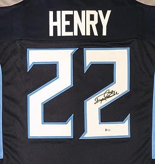 Tennessee Titans Derrick Henry Autographed Blue Jersey Beckett BAS