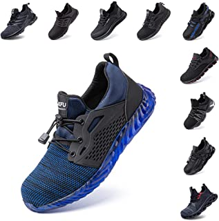 Safety Shoes Men Women Steel Toe Cap Trainers Work Sport Ladies Safe Sneakers Lightweight Breathable Indestructible Black ...