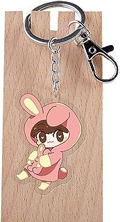Nuofeng - Cute Cartoon Kpop BTS Bangtan Boys Keychain Acrylic Key Ring Hot Gift for A.R.M.Y(H04)