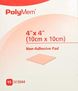 "PolyMem Cloth Wound Dressings, Non-Adhesive, 4"" x 4"", Box of 15"