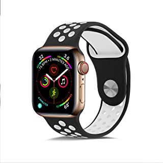 Compatible for Apple Watch Band 42mm 44mm,Jxh-Life Soft Silicone Sport Band Replacement Wrist Strap for iWatch Series 4/3/...