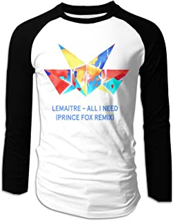 Eyscar Mens Logo of Lemaitre Cotton Baseball Raglan Full T-Shirts