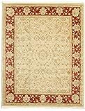 FeelGoodRugs Farahan Ziegler-Teppich, Beige/Rot, 200 x 250 cm, Orientalischer Teppich, Wolle, Braun