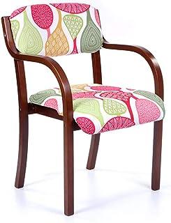 Sillas de Comedor Modernas con Brazo/Sillas de recepción para Sala de Estar Cocina Dormitorio Oficina Club Invitado - Cojín de Lona de algodón Patas de Madera, tapizado de 3 Colores