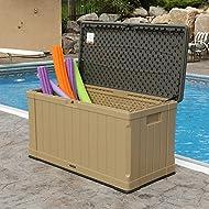 Lifetime 439 Litre Outdoor Storage Deck Box in Heather Beige