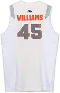 Sean Williams Syracuse Orange Game-Used #45 White Jersey from the 2008-09 Basketball Season - Size 54+4 - Fanatics Authentic Certified