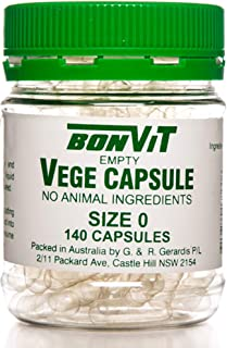 Bonvit Empty Vege 140 Capsules, 0, 140 count